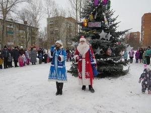 В сквере на улице Прыгунова установили новогоднюю елку