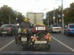 Необычный мотопутешественик  прибыл в Нижний Новгород (ФОТО)