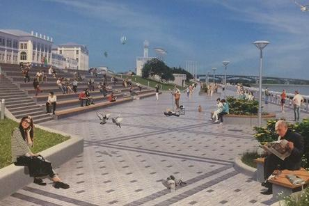 Гулять по обновленной Нижне-Волжской набережной нижегородцы смогут с 1 мая 2018 года
