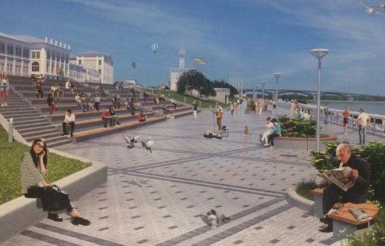 Первый этап благоустройства Нижневолжской набережной предстоит закончить к1мая следующего года
