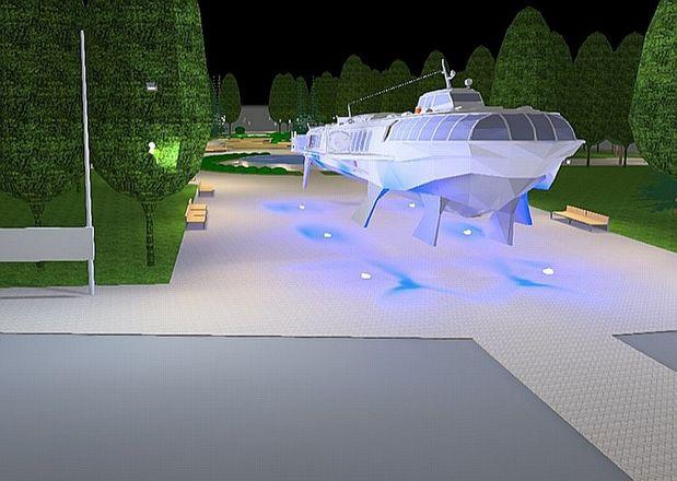 «Метеор» на площади Буревестника подсветят «волнами» - фото 1