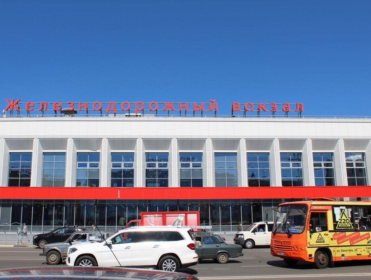 Выделенная полоса для автобусов появилась в Нижнем Новгороде около вокзала - фото 1