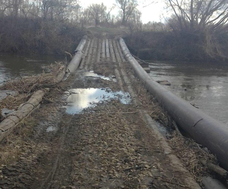 Затопленный мост в Починковском районе освободился от воды - фото 1