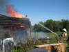 В Нижегородской области гроза подожгла жилой дом и надворные постройки площадью 160 кв. м