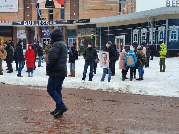 Протестующие собрались в центре Нижнего Новгорода - фото 7