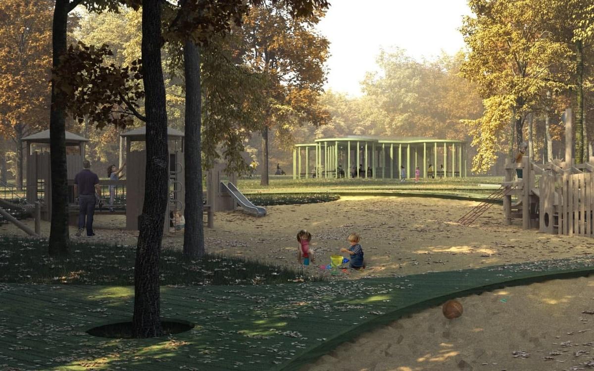 В парке «Швейцария» в Нижнем Новгороде началась установка детского кафе - фото 1