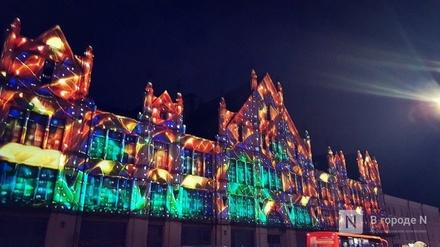 Световая инсталляция вновь появилась на фасаде нижегородского «Маяка»