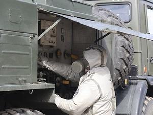 Военнослужащие продезинфицируют учебные заведения в Нижегородской области