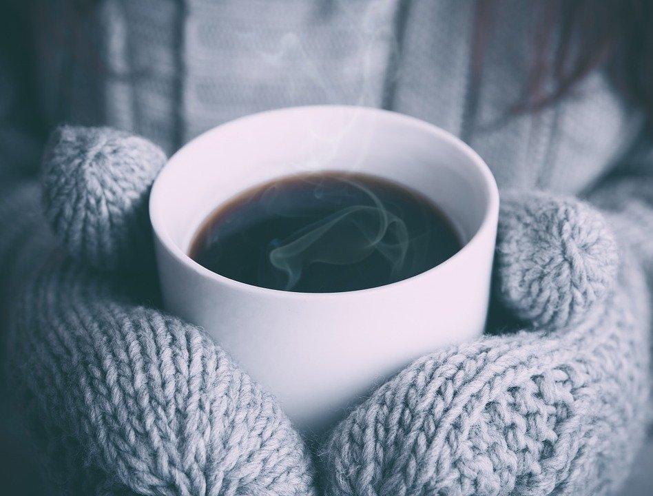 Позитивные, зима утро картинки кофе