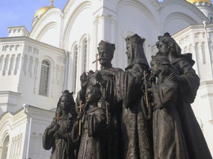 Памятник семье императора Николая II торжественно откроют в Дивеевском монастыре