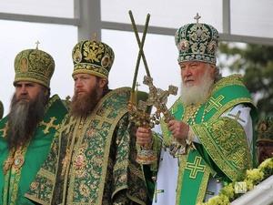 Патриарх Кирилл возглавил божественную литургию в Дивееве